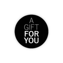 Sticker a gift for you zwart/wit 10 stuks (GX)