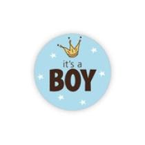 Sticker it's a boy kroontje 10 stuks (GX)