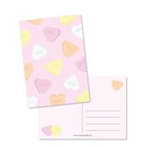 Kaart sweetheart roze