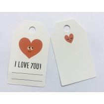 Mini label i love you