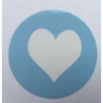 Sticker Hart Lichtblauw 10 stuks