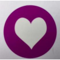 Sticker Hart Paars 10 stuks