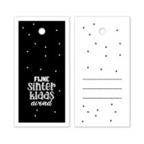 Kadolabel Fijne Sinterklaasavond zwart/wit 5 stuks (EG)