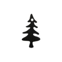 Houten kerstboompjes zwart 5 stuks