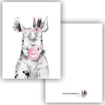 Mini kaartje nijlpaard (ESVA)
