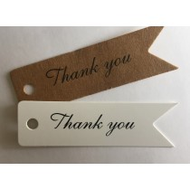 Label thank you wit of kraft