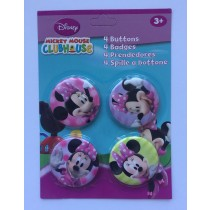 Set van 4 Minnie Mouse buttons