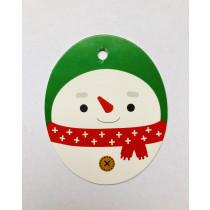 Label sneeuwpop 10 stuks