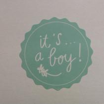 Sticker It's a Boy mintgroen 10 stuks