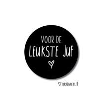 Sticker voor de leukste juf MV