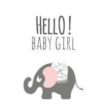 Label Olifant Hello Baby Girl