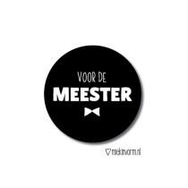 Sticker voor de meester MV