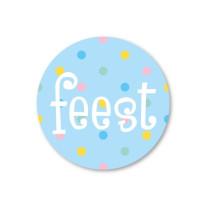 Stickerset 5 stickers feest SS
