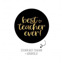 Luxe Sticker Best Teacher ever 5 stuks