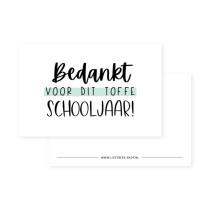 Kadolabel Bedankt voor dit toffe schooljaar mint (LB)