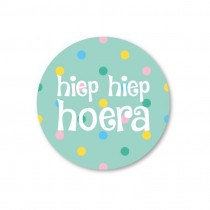 Stickerset 5 stickers Hiep Hiep Hoera SS