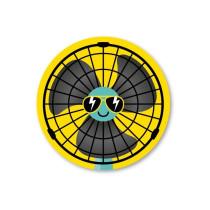 Stickerset 5 stickers Ventilator cool SS