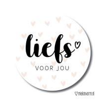 Sticker liefs voor jou MV 5 stuks