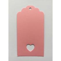 Roze boogjes label met hartje