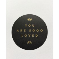 Sticker You are sooo loved 5 stuks