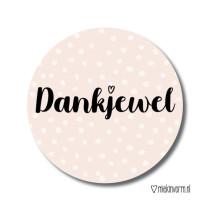 Sticker Dankjewel MV 5 stuks