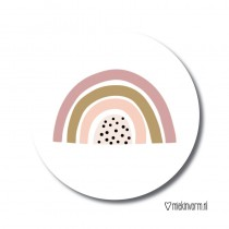 Sticker Regenboog MV 5 stuks