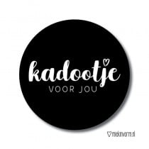 Sticker Kadootje voor jou MV 5 stuks