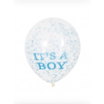 Confetti ballonnen it's a boy 6 stuks