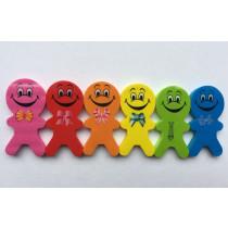 Regenboog Smiley Gum Poppetje