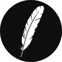 Sinterklaas sticker veertje zwart/wit 10 stuks (EPS)