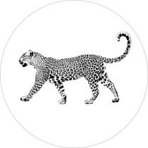 Sticker panter zwart wit 10 stuks (EV)