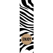 Labelsticker Enjoy zebra 10 stuks
