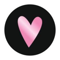 Stickers Metallic Hartje Pink 10 stuks