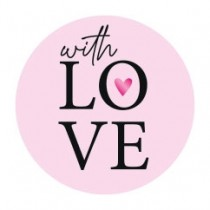 Stickers With Love Pink goudfolie 10 stuks