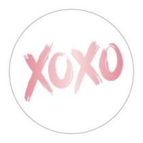 Stickers XOXO Roségoud (mat) 10 stuks