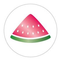 Stickers watermeloen goudfolie 10 stuks