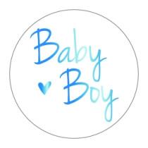 Stickers Baby Boy Goudfolie Blauw 10 stuks