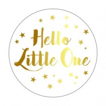 Stickers Hello Little One goudfolie 10 stuks