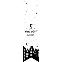 Labelsticker 5 december kadootje 10 stuks (EV)