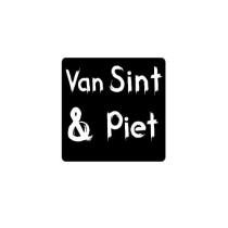 Sticker zwart van Sint en Piet 10 stuks