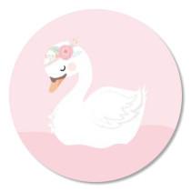 Sticker Boho Zwaan 10 stuks (TK)