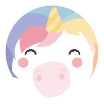 Sticker gezichtje Unicorn 10 stuks (TK)