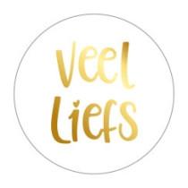 Sticker veel liefs goud 10 stuks (EV)