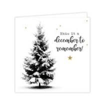 Luxe kerstkaart Make it a december to remember (GX)
