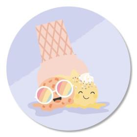 Sticker ijsje 10 stuks (TK)