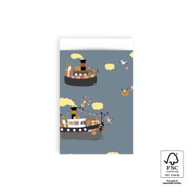 Kadozakje Sinterklaas Pakjesboot 12x19 cm 5 stuks