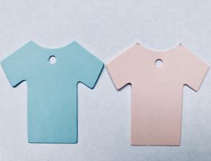 Label baby shirt blauw
