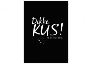 Kaart Dikke kus en een mega knuffel