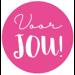 Ronde Sticker voor jou roze 10 stuks