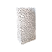 Kraft zakken dots blokbodem 5 stuks